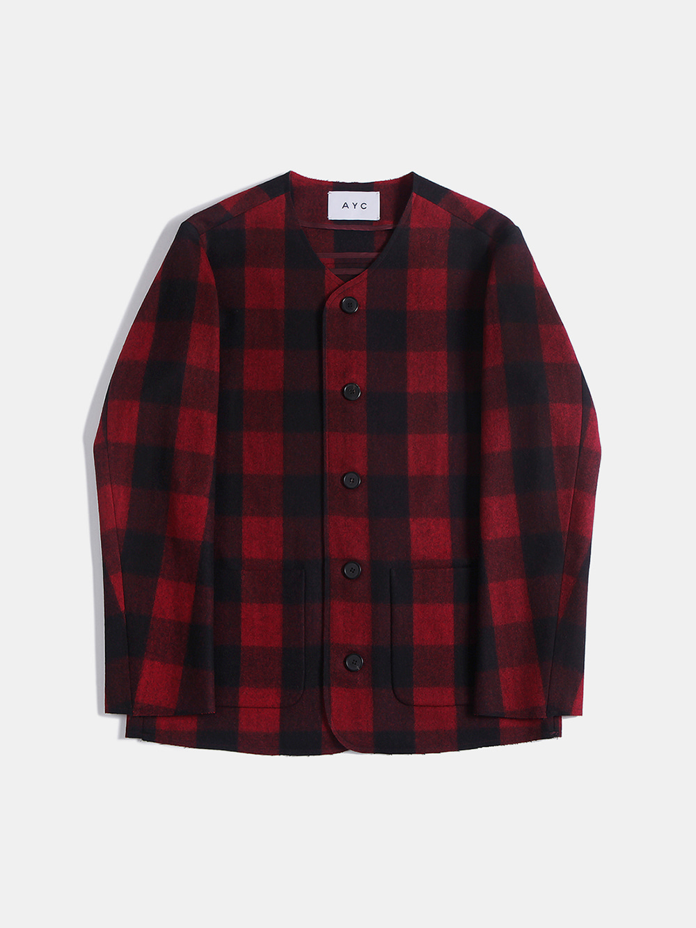 Cut-off Crew Neck Jacket (Red)