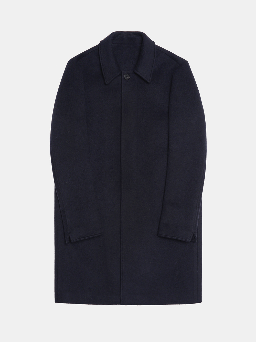 Wool Mac Coat (Navy)