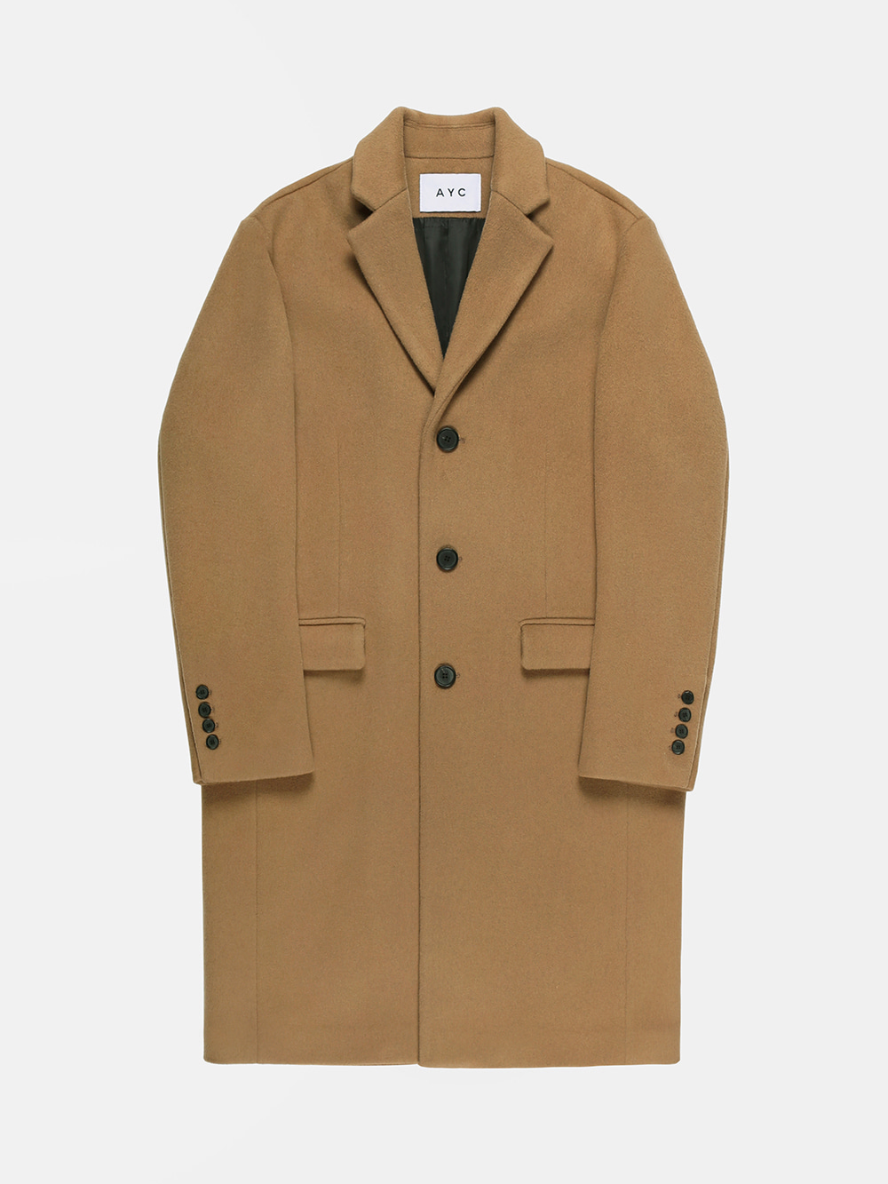 Cashmere Chesterfield Coat (Camel)