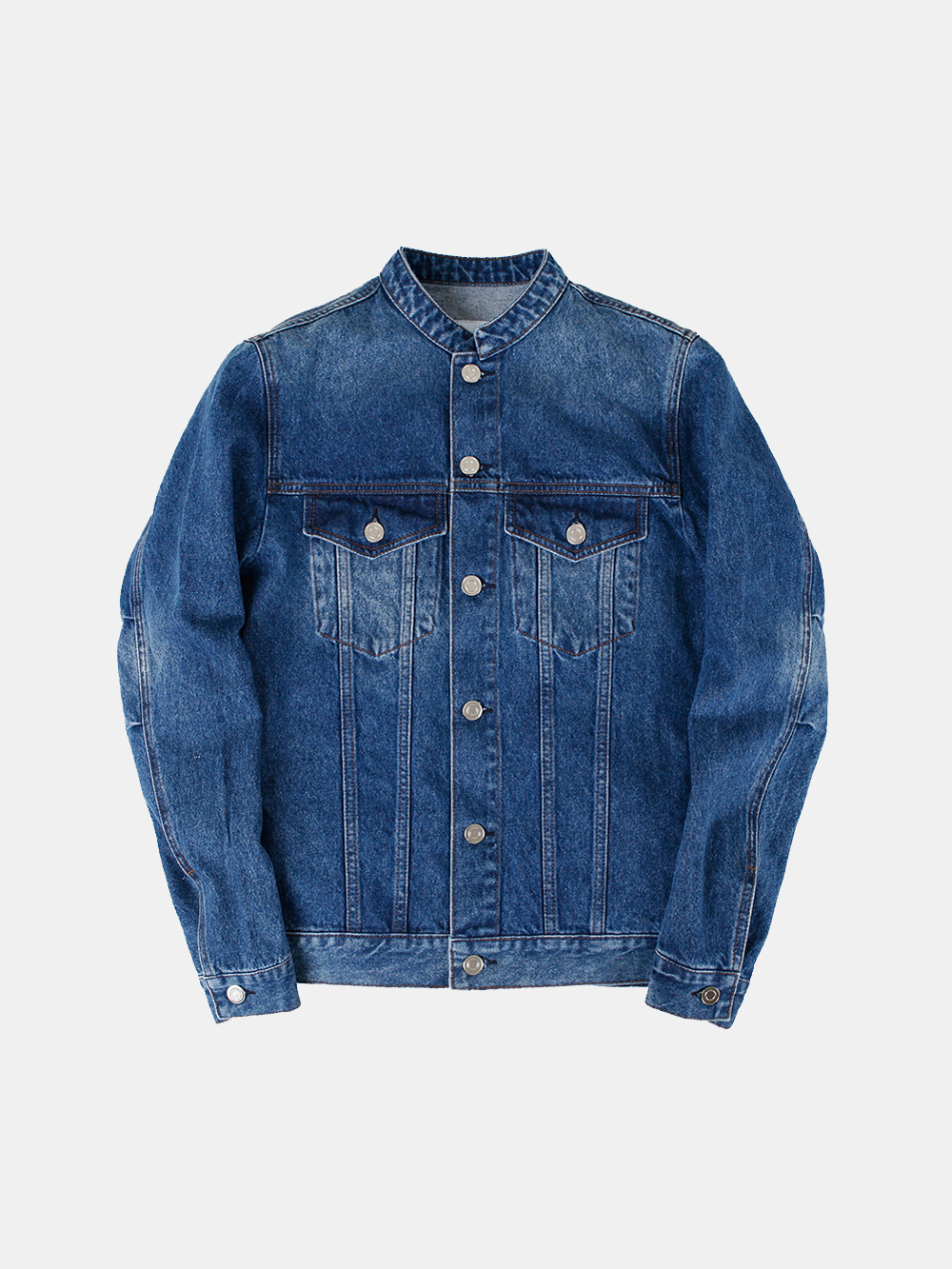 [-30%] Stand-up Collar Denim Jacket