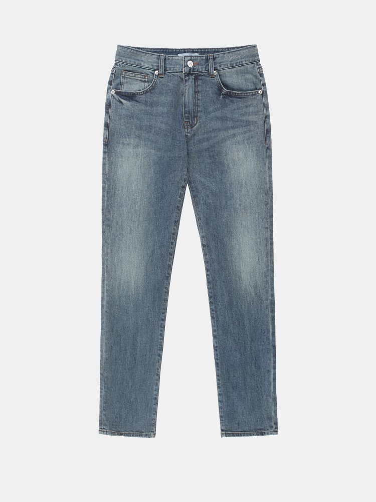 Faded Wash Cropped Jeans