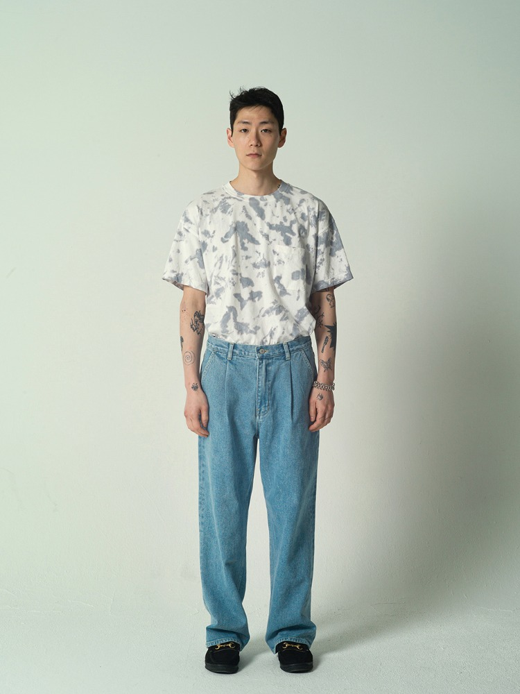 1 Tuck Wide Jeans Light Blue