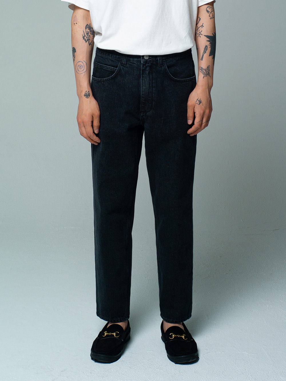 Tapered Jeans Used Black